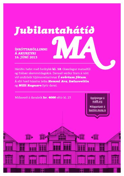 Auglýsing MA-hátíð 2013